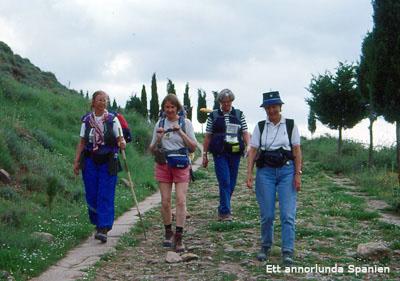 Vi lämnar Cirauqui (Navarra) på en gammal romersk väg som fortfarande är i ganska gott skick. Här har pilgrimer vandrat sedan medeltiden.