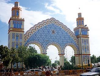 Huvudentrén till aprilferian i Sevilla 1994