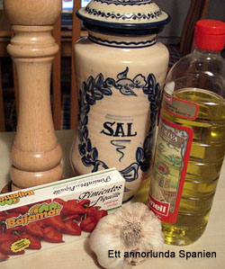 Ingredienser till Pimientos de piquillo