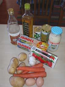 Ingredienser till Ensalada Rusa
