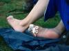 """Ta väl hand om dina fötter!! Sassi köpte dom dyraste och """"bästa"""" vandringskängor som hon kunde hitta, och se vad som hände. (Jag använde ett par ökenboots, mer än 20 år gamla - och fick inte ett enda skavsår)."""