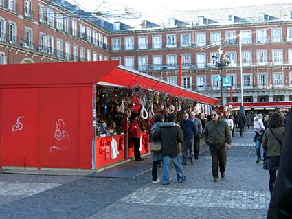 Plaza Mayor, Madrid, 2008-12-25, kl 12.50