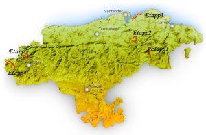 """Kantabrien, beläget mellan Baskien i öst och Asturien i väst, hör till det spanjorerna kallar för el norte eller la España verde, dvs. """"norr"""" eller """"det Gröna Spanien"""""""