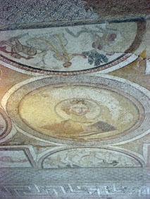 Mosaik i sovrummet, cubiculum