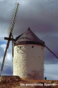 En av väderkvarnarna i Campo de Criptana.