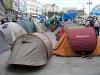 Puerta del Sol har förändrats till en kåkstad.