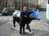 Så har undertecknad hamnat på bild.  Fotad av en latinamerikansk turist, vars namn jag tyvärr glömde att fråga efter, vid Plaza de Neptuno den 30 januari