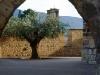 Ett typisk stenvalv i en liten by, Navarra.