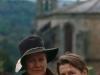 Ann och Eva utforskar staden Sarria, Lugo.