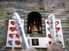 Tjurrusarna sjunger hyllningen till Pamplonas skyddshelgon San Fermín