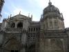 Del av katedralens rikt utsmyckade fasad.