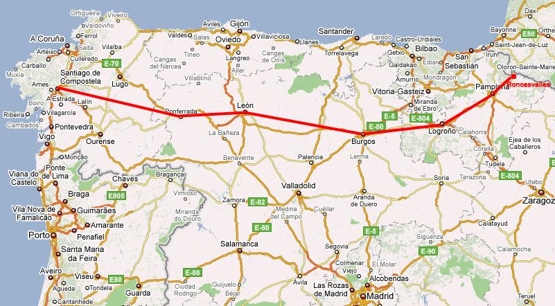 karta norra frankrike Ett annorlunda SpanienSida 2 « Monica | Ett annorlunda Spanien (42) karta norra frankrike