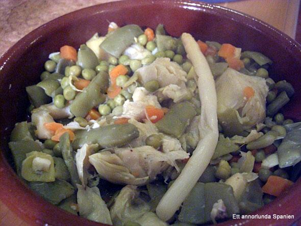 Spansk grönsaksgryta - menestra de verduras