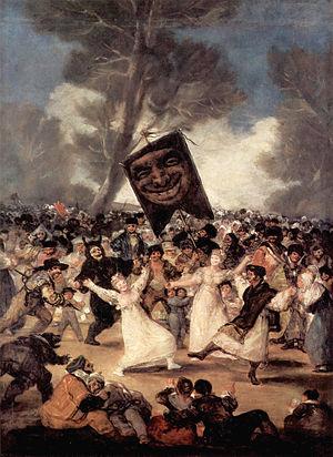 El entierro de la sardina av Goya